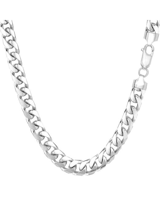 JewelryAffairs | 14k White Gold Miami Cuban Link Chain Necklace - Width 5.8mm, 22 Inch for Men | Lyst