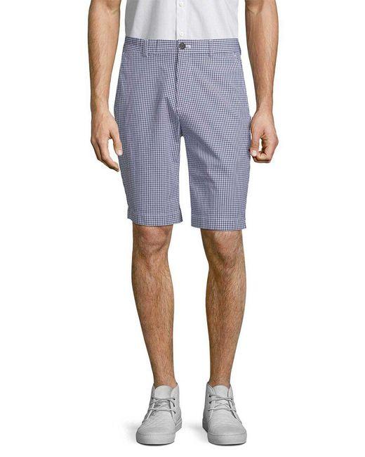 Brooks Brothers - Blue Gingham Bermuda Short for Men - Lyst