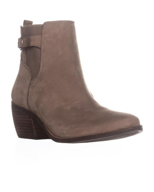 Lucky Brand - Gray Khoraa Block-heel Ankle Boots, Brindle - Lyst