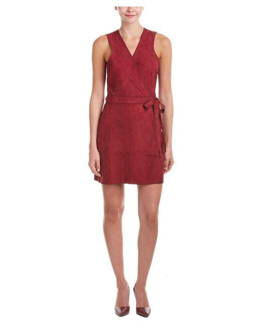 Calypso St. Barth - Red St. Barth Tuqa Suede Wrap Dress - Lyst