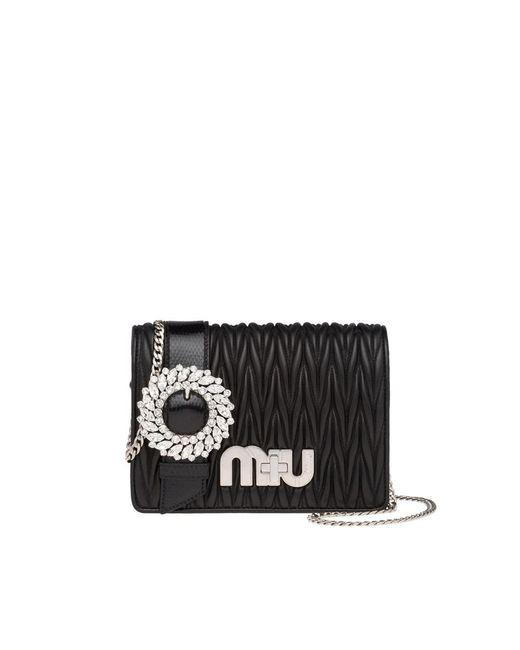 Miu Miu - Women's Black Shoulder Bag - Lyst