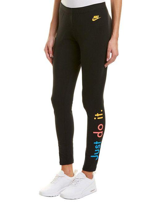 Nike - Black Legging - Lyst