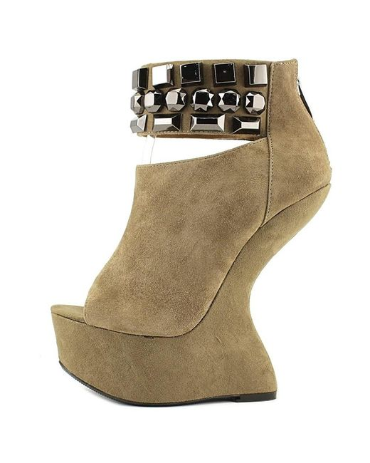 Chinese Laundry - Can Can Women Open Toe Suede Brown Platform Sandal - Lyst