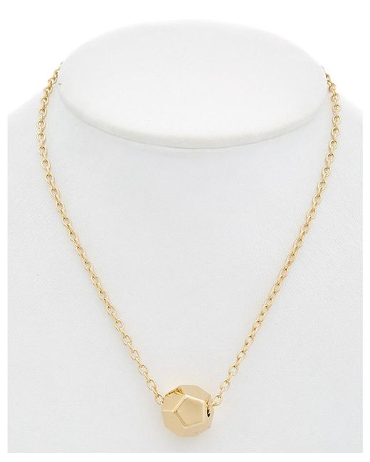 Rebecca Minkoff - Metallic Cube Necklace - Lyst