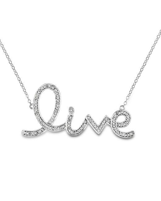 Catherine Malandrino - Metallic 1/10 Ct Tw Diamond Live Necklace - Lyst