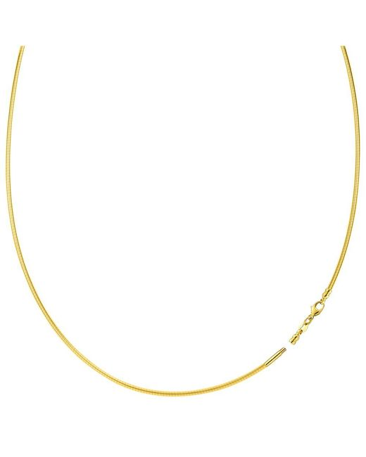 JewelryAffairs   Round Omega Chain Necklace With Screw Off Lock In 14k Yellow Gold, 1.5mm   Lyst