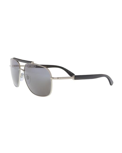 d04b1f685579 ... BVLGARI - Metallic Bv5040k 200781 Matte Silver Rectangular Sunglasses  for Men - Lyst ...