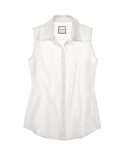 The Shirt by Rochelle Behrens - White The Signature Sleeveless Shirt - Lyst