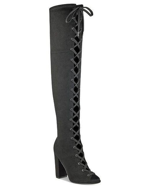 e0cdc0f2b9f Guess - Black Womens Casidi Open Toe Over Knee Fashion Boots - Lyst ...