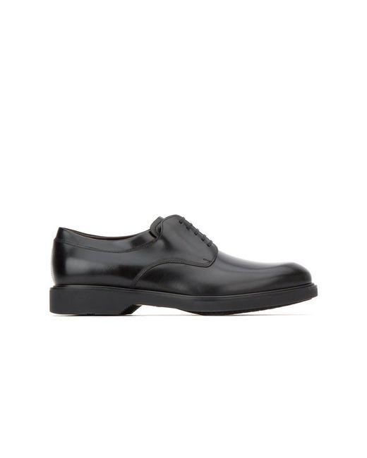 Ferragamo   Men's 0642687 Black Leather Lace-up Shoes for Men   Lyst