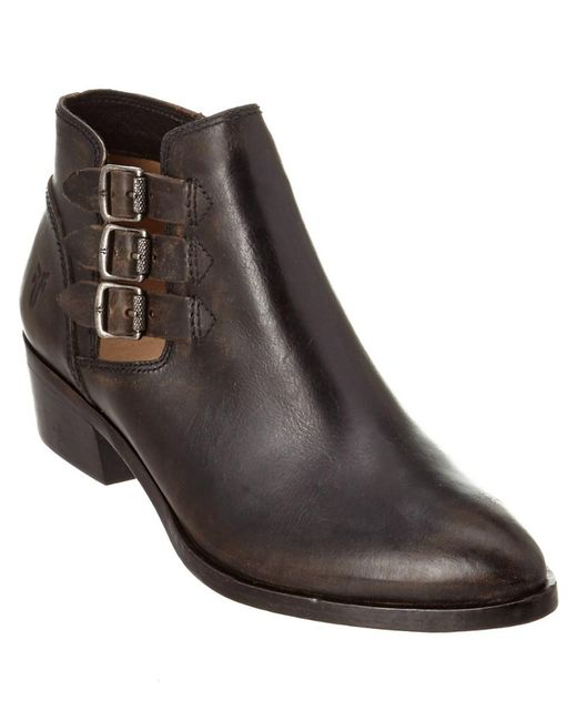 Frye - Black Women's Ray Belted Leather Bootie - Lyst