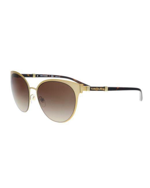 753ab41ec939 Tory Burch - Brown Ty6058 Women Sunglasses - Lyst ...