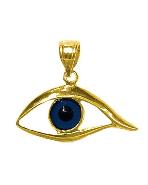 JewelryAffairs - Yellow Sterling Silver 18 Karat Gold Overlay Plated Evil Eye Pendant - Lyst