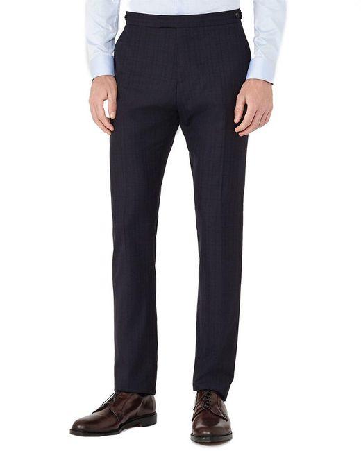 Reiss - Blue Baggio T Modern Fit Wool Trouser for Men - Lyst