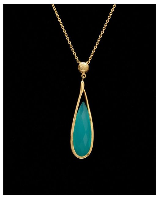 Argento Vivo - Metallic 18k Over Silver Chalcedony Necklace - Lyst