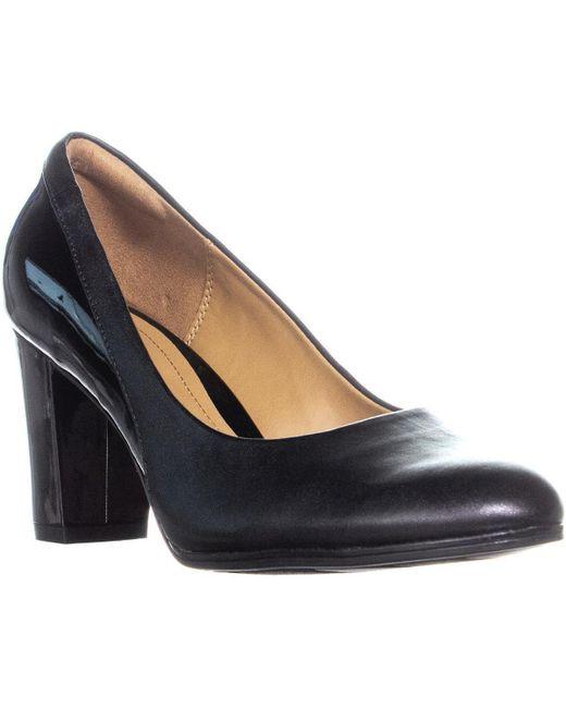 Clarks - Basil Auburn Block Heels, Black Combo - Lyst
