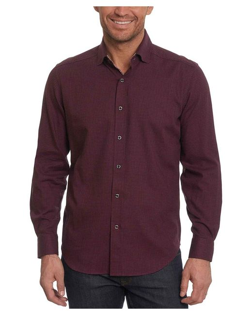 Robert Graham - Purple Colin Tailored Fit Woven Shirt for Men - Lyst