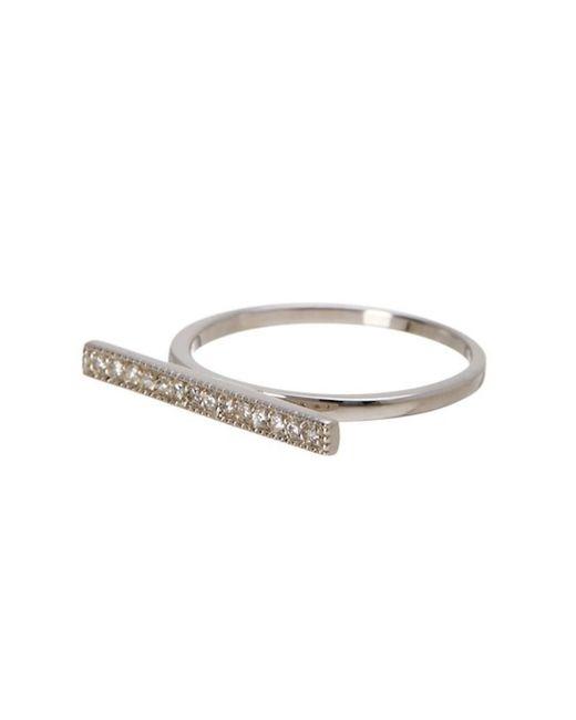 Adornia - Metallic Sterling Silver Bar Ring - Lyst