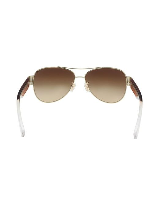b9965b5cf0 ... COACH - Metallic Hc7049 926713 Light Gold  Cornalian Aviator Sunglasses  for Men - Lyst ...