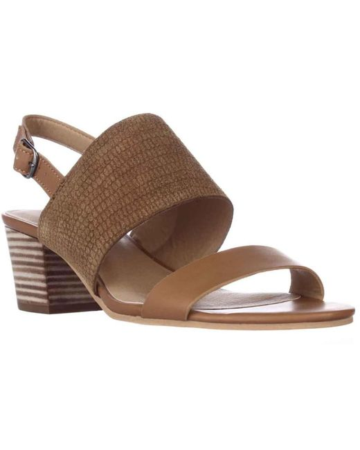 Lucky Brand - Gewel Block Heel Sandals - Brown Sugar - Lyst