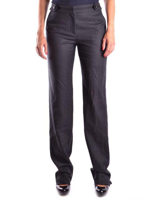 Armani - Gray Women's Mcbi024057o Grey Wool Pants - Lyst