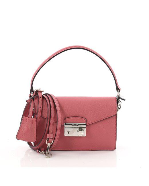 Prada - Multicolor Convertible Sound Bag Saffiano Leather Mini - Lyst