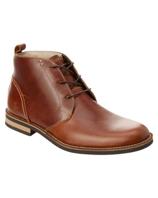 Original Penguin | Brown Monty Leather Chukka Boot for Men | Lyst