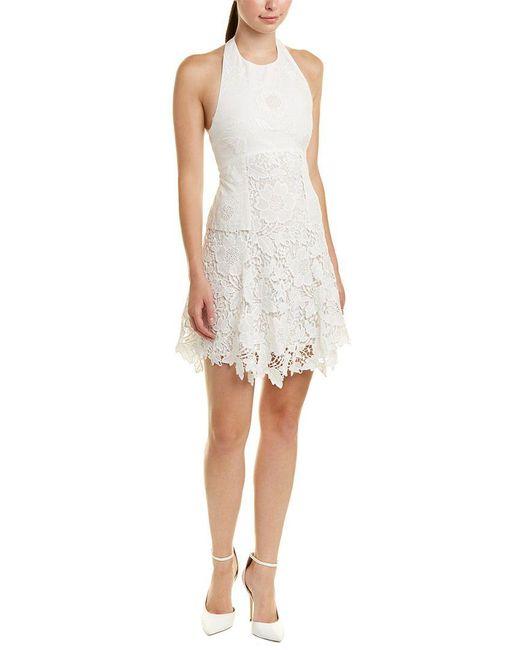 Alice + Olivia - White Susan A-line Dress - Lyst