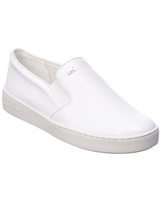 6f14887f082a Lyst - Michael Michael Kors Keaton Slip-on Sneaker in White - Save ...