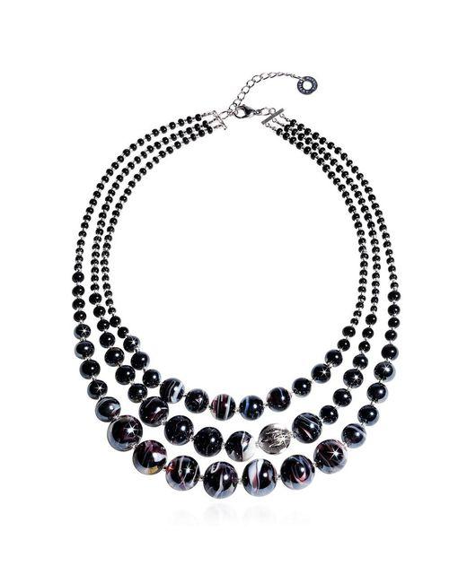 Antica Murrina - Women's Black Steel Necklace - Lyst