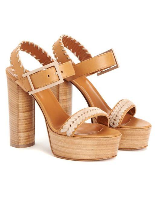 Aquatalia - Brown Isabella Waterproof Leather Sandal - Lyst