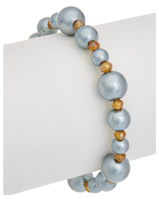 Carolee   Metallic West Side 12k Plated Toggle Bracelet   Lyst