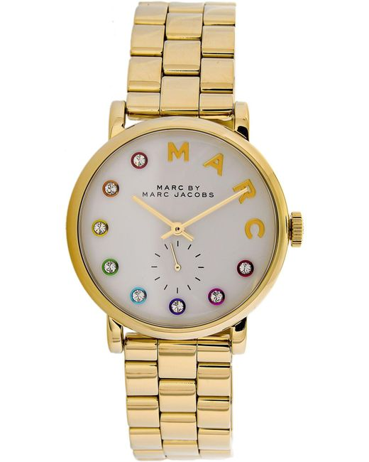 Marc By Marc Jacobs - Metallic Marc By Jacobs Women's Mbm3440 Gold Stainless-steel Plated Quartz Fashion Watch - Lyst
