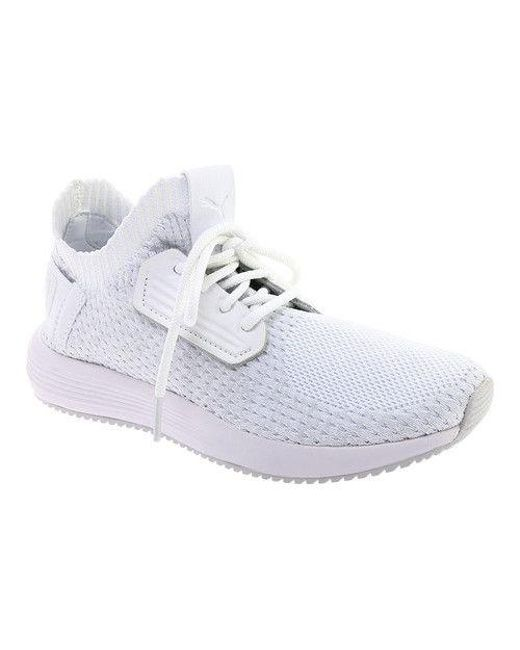 3db5ae3073bf Lyst - Puma Women s Uprise Knit Sneaker in Gray