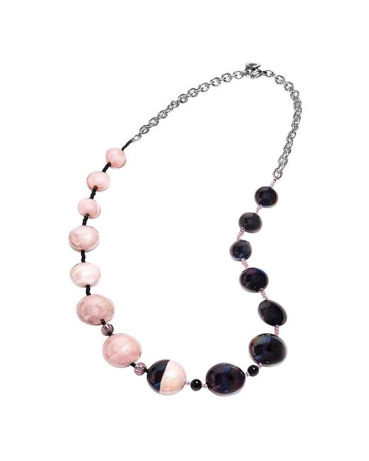Antica Murrina | Women's Black/pink Other Materials Necklace | Lyst