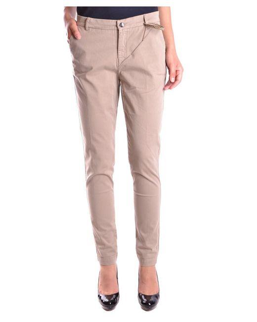 Liu Jo | Brown Women's Mcbi191355o Beige Cotton Pants | Lyst