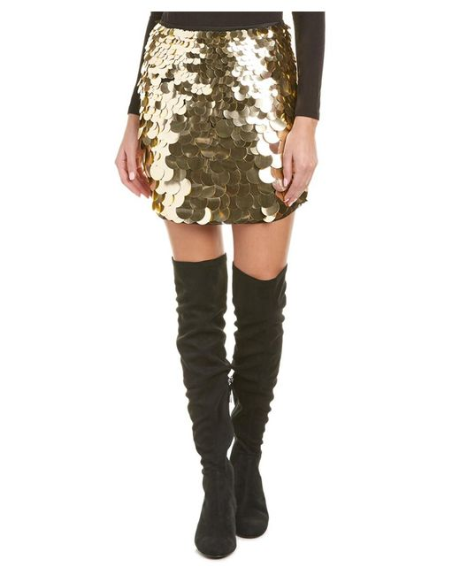 Trina Turk - Metallic Kalina Mini Skirt - Lyst