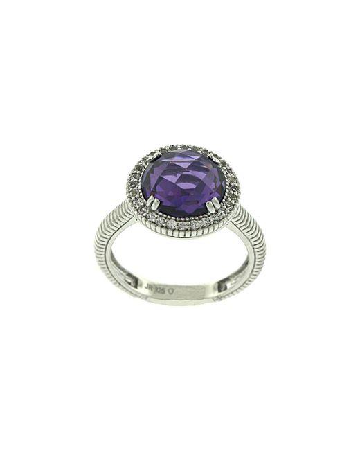 Judith Ripka | Metallic Legacy Silver 8.78 Ct. Tw. Purple Crystal & White Sapphire Ring | Lyst