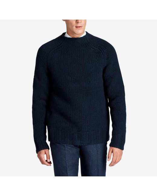 Bonobos Handknit Mock Neck Sweater in Blue for Men | Lyst