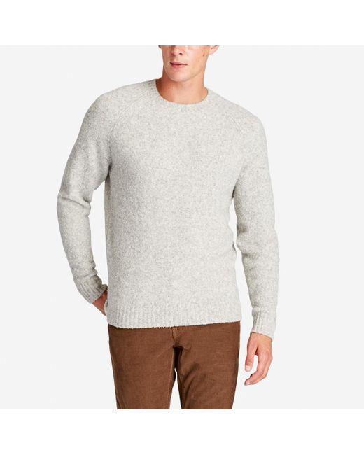 Bonobos Boucle Crew Neck Sweater in Gray for Men | Lyst
