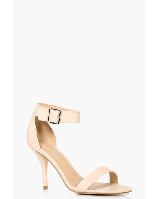 Boohoo | Natural Mia Wide Fit Chunky Ankle Band Two Part | Lyst