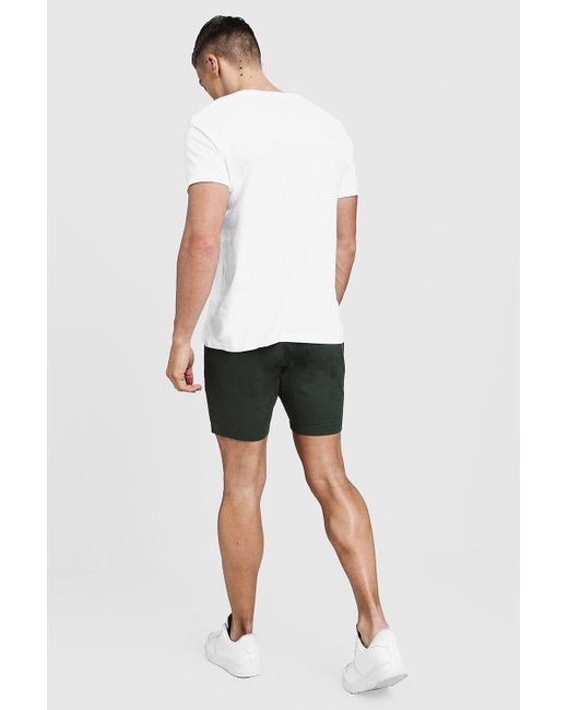 5f30d28dfb13 ... Boohoo - Black Slim Fit Rugby Chino Shorts for Men - Lyst