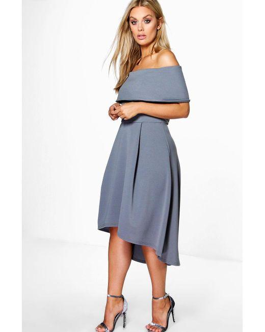 6dcc5d868c68 Boohoo - Multicolor Plus Double Layer Midi Dress - Lyst ...