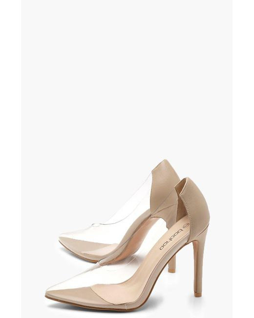 2e7e1f3de80 ... Boohoo - Natural Clear Court Shoes - Lyst ...