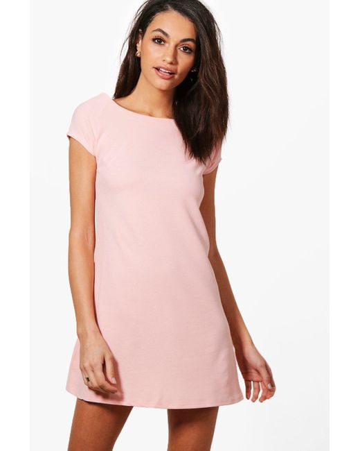 Boohoo | Pink Fiona Fitted Tailored Dress | Lyst