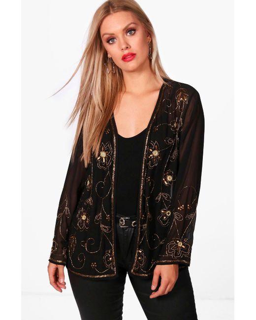 Boohoo | Black Plus Megan Embellished Jacket | Lyst