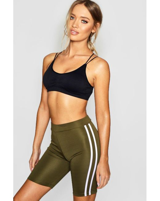 6c7bd66d6e05 Boohoo - Multicolor Fit Side Stripe Cycling Shorts - Lyst ...