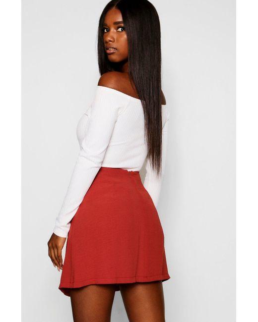 4b90ec804b ... Boohoo - Black Pleated Front Mini Skirt - Lyst ...