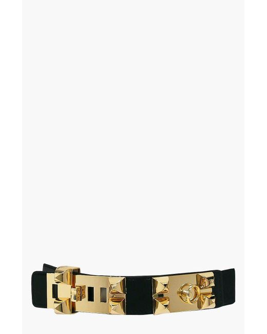 Boohoo | Black Alisha Statement Stud Waist Belt | Lyst