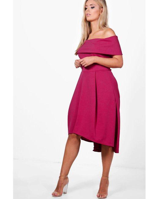 d004adb823980 Boohoo - Pink Plus Double Layer Midi Dress - Lyst ...